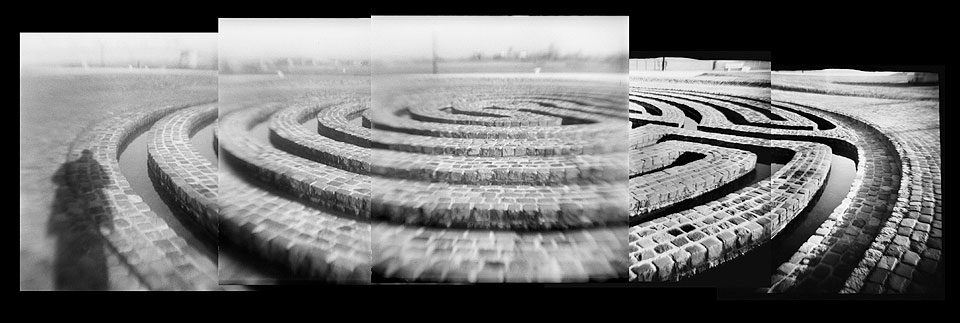 Waterlabyrinth op de Waalkade