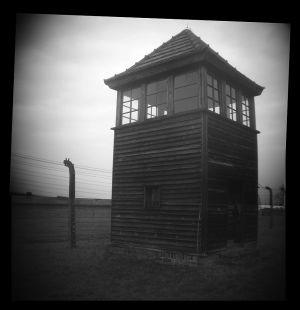 Guard Tower Early Morning - Auschwitz II - Birkenau