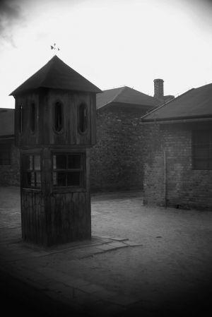 Rainy Day Guard Post - Auschwitz I